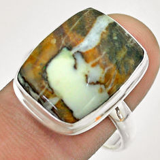 13.96cts natural bronze wild horse magnesite 925 silver ring size 10 t54284