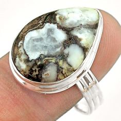 14.90cts natural bronze wild horse magnesite 925 silver ring size 10 t54296