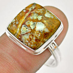 13.41cts natural bronze wild horse magnesite 925 silver ring size 11 t54287