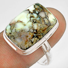 13.28cts natural bronze wild horse magnesite 925 silver ring size 11 t54293