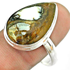 13.87cts natural bronze wild horse magnesite 925 silver ring size 11 t54300