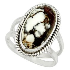 7.24cts natural bronze wild horse magnesite 925 silver ring size 7 r42228