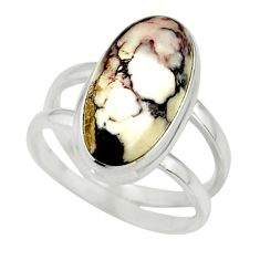 6.89cts natural bronze wild horse magnesite 925 silver ring size 8 r42233