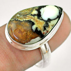 14.90cts natural bronze wild horse magnesite 925 silver ring size 9 t54289
