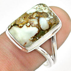 11.64cts natural bronze wild horse magnesite 925 silver ring size 9 t54292