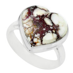 8.31cts natural bronze wild horse magnesite silver solitaire ring size 6 r84690