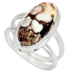 6.33cts natural bronze wild horse magnesite silver solitaire ring size 8 r27201