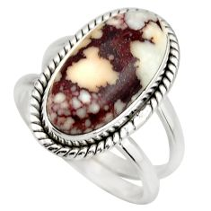 5.90cts natural bronze wild horse magnesite silver solitaire ring size 8 r27202