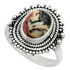4.22cts natural bronze wild horse magnesite silver solitaire ring size 8 r52595