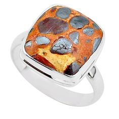 8.70cts natural brown bauxite 925 silver solitaire ring jewelry size 9.5 r95750