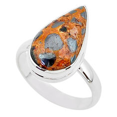 8.65cts natural brown bauxite 925 silver solitaire ring jewelry size 9 r95747