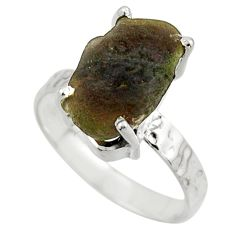 5.58cts natural brown chintamani saffordite 925 silver ring size 6.5 r43315