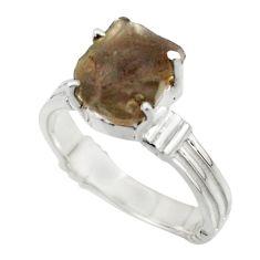 5.06cts natural brown chintamani saffordite 925 silver ring size 7.5 r43318