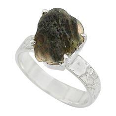 5.81cts natural brown chintamani saffordite 925 silver ring size 7 r43310
