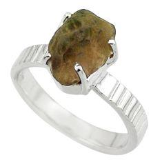 4.47cts natural brown chintamani saffordite 925 silver ring size 7 r43317
