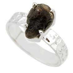 5.03cts natural brown chintamani saffordite 925 silver ring size 7 r43451
