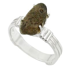 5.81cts natural brown chintamani saffordite 925 silver ring size 8 r43306