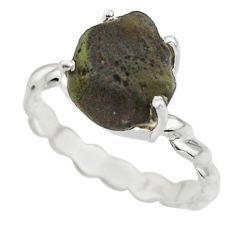 5.06cts natural brown chintamani saffordite 925 silver ring size 9 r43316