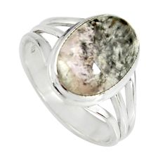 5.32cts natural cacoxenite super seven 925 silver solitaire ring size 9 r19339