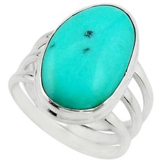 15.29cts natural campitos turquoise 925 silver solitaire ring size 8.5 r22195