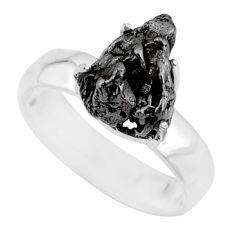 6.58cts natural campo del cielo 925 silver solitaire ring size 7 r73526