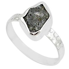 2.23cts natural diamond rough 925 silver solitaire handmade ring size 7.5 r79041
