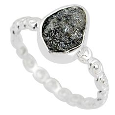 1.82cts natural diamond rough 925 silver solitaire ring size 6 r79039