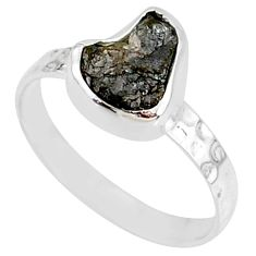 1.98cts natural diamond rough 925 silver solitaire handmade ring size 7 r79043