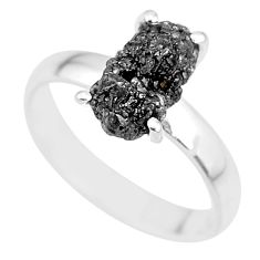 2.75cts natural diamond rough 925 silver solitaire ring jewelry size 7 r91936