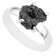 2.77cts natural diamond rough 925 silver solitaire ring jewelry size 7 r91955