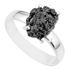 2.93cts natural diamond rough 925 silver solitaire ring jewelry size 7 r91958