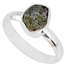 2.15cts natural diamond rough 925 silver handmade solitaire ring size 8 r79030