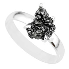 2.72cts natural diamond rough 925 silver solitaire ring jewelry size 8 r91946