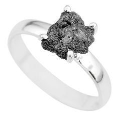 2.75cts natural diamond rough 925 silver solitaire ring jewelry size 8 r91959