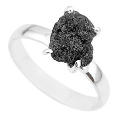2.61cts natural diamond rough 925 silver solitaire ring jewelry size 9 r91928