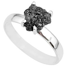 2.75cts natural diamond rough 925 silver solitaire ring jewelry size 9 r91942