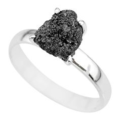 2.61cts natural diamond rough 925 silver solitaire ring jewelry size 9 r91971