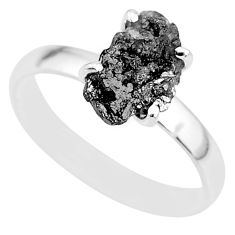 2.78cts natural diamond rough 925 silver solitaire ring jewelry size 9 r91972