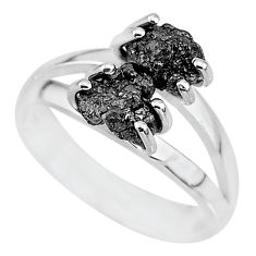 2.61cts natural diamond rough 925 sterling silver ring jewelry size 7 r92045