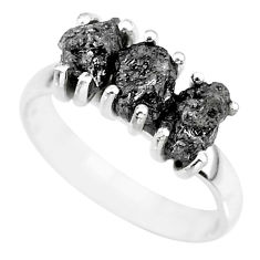3.58cts natural diamond rough 925 sterling silver ring jewelry size 7 r92340