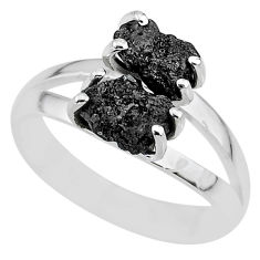 2.28cts natural diamond rough 925 sterling silver ring jewelry size 8 r92065