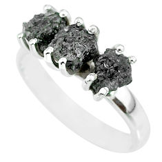 3.59cts natural diamond rough 925 sterling silver ring jewelry size 8 r92358