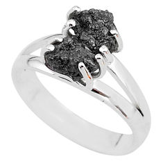 5.76cts natural diamond rough 925 sterling silver ring jewelry size 8 t4295