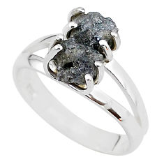 6.19cts natural diamond rough 925 sterling silver ring jewelry size 8 t4300