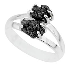 2.76cts natural diamond rough 925 sterling silver ring jewelry size 9 r92076