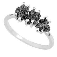 3.59cts natural diamond rough 925 sterling silver ring jewelry size 9 r92308