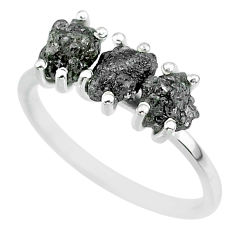 3.53cts natural diamond rough 925 sterling silver ring jewelry size 9 r92359