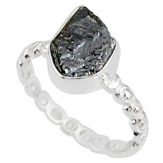 2.12cts natural diamond rough 925 silver solitaire handmade ring size 7 r79051