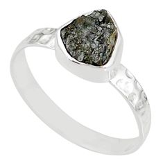 1.73cts natural diamond rough 925 silver solitaire handmade ring size 8 r79050
