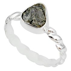 2.11cts natural diamond rough 925 silver solitaire handmade ring size 9 r79047